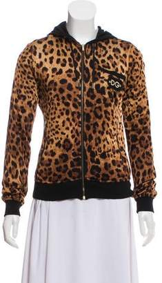 0d09f894a57a Dolce & Gabbana Hooded Animal Print Sweatshirt