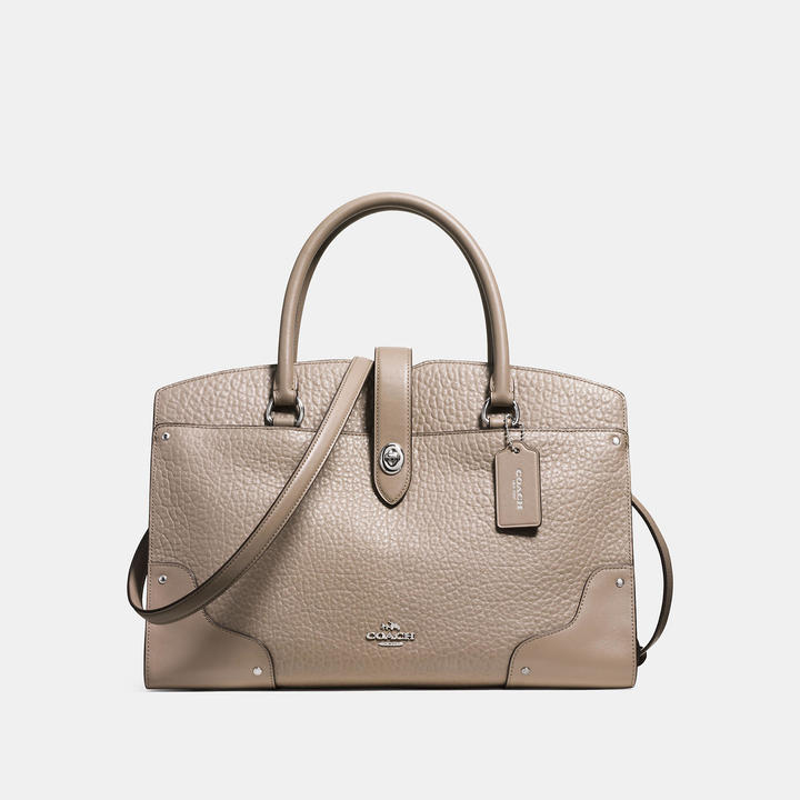Coach   COACH Coach Mercer Satchel In Mixed Leathers