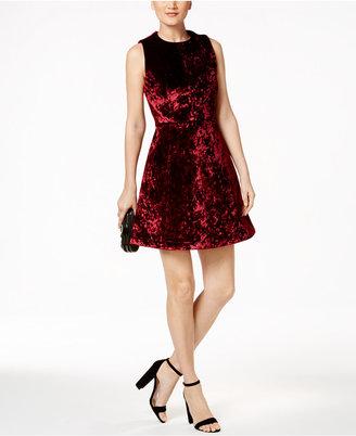 RACHEL Rachel Roy Velvet Fit & Flare Dress $139 thestylecure.com