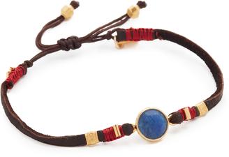 Chan Luu Sapphire Pull Tie Leather Bracelet $60 thestylecure.com