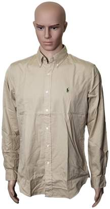 Ralph Lauren Polo  Long Sleeve Classic Fit Mens Shirt, Biege M