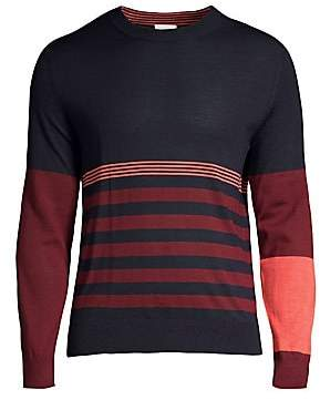 Paul Smith Men's Wool& Silk Crewneck Sweater