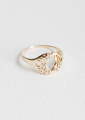 And other stories Cutout Wreath Ring