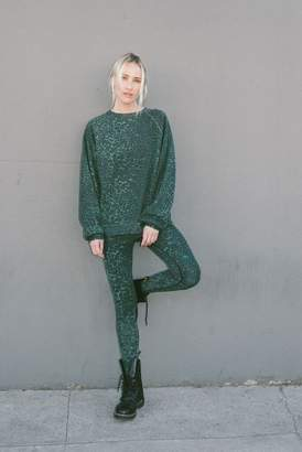 Rag Doll Ragdoll OVERSIZED SWEATSHIRT Green Leopard