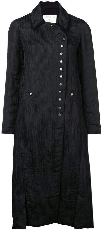 Renli Su crinkled design coat