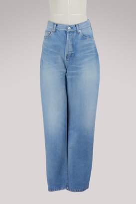 Balenciaga Long denim skirt-pants