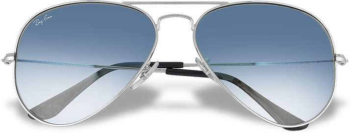 Ray Ban Aviator - Silvertone Metal Sunglasses