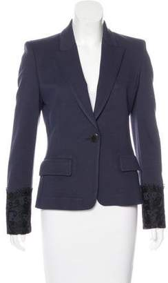 Emilio Pucci Lace-Embellished Structured Blazer