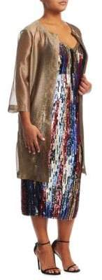 Marina Rinaldi Marina Rinaldi, Plus Size Fruscio Sheer Topper Jacket
