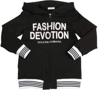 Dolce & Gabbana Cotton Fleece Sweatshirt Hoodie