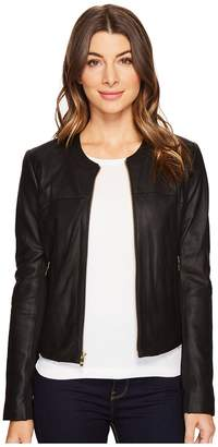 Via Spiga Zipped Leather Jacket Women's Coat