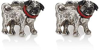 Barneys New York MEN'S PUG CUFFLINKS - SILVER