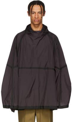 Jil Sander Purple Nylon Wide Pullover Jacket