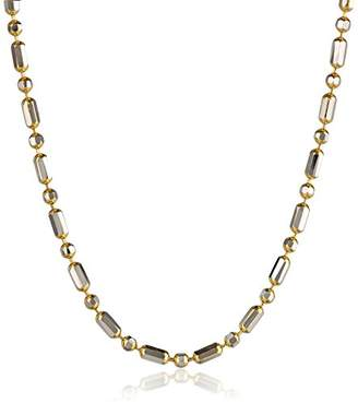 14k Two-Tone 1.4mm Bead and Bar Chain Necklace