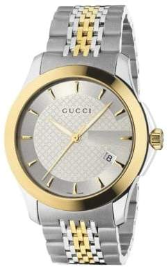 Gucci G-Timeless Collection Watch/Stainless Steel& Gold PVD