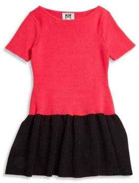 Milly Minis Little Girl's Colorblock Flounce Dress