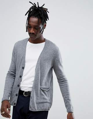 Antony Morato knitted cardigan in gray alpaca wool blend