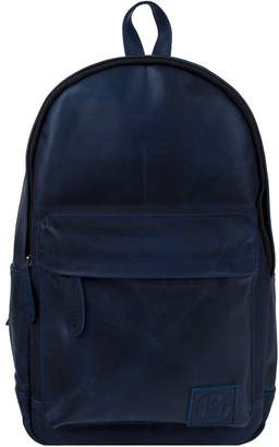 MAHI Leather - Leather Classic Backpack Rucksack In Navy