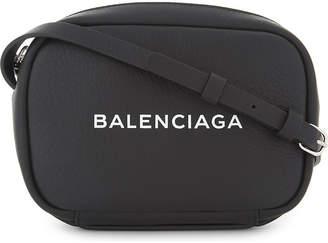 Balenciaga Logo leather cross-body bag
