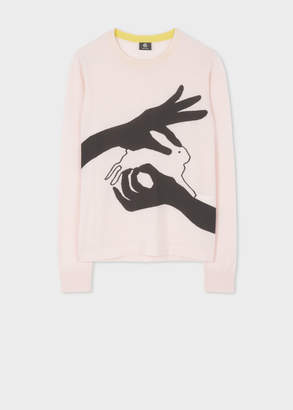 Paul Smith Women's Pink Merino 'Shadow Puppet' Sweater