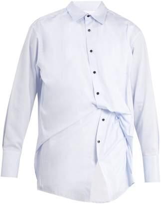 Wooyoungmi Gathered double layered cotton shirt