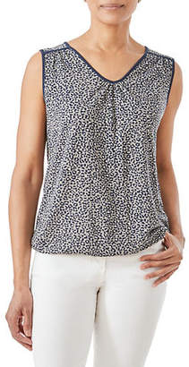 Olsen Casual Coast Sleeveless Animal-Print Top