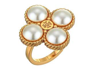 Tory Burch Rope Clover Ring