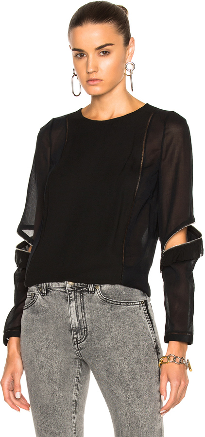 3.1 Phillip Lim 3.1 phillip lim Top with Ruffle and Zip Detail