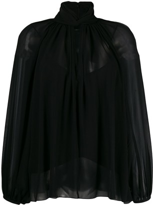 Givenchy hang collar blouse