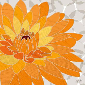 Dahlia GreenBox Art by Molly Bernarding Graphic Art on Canvas