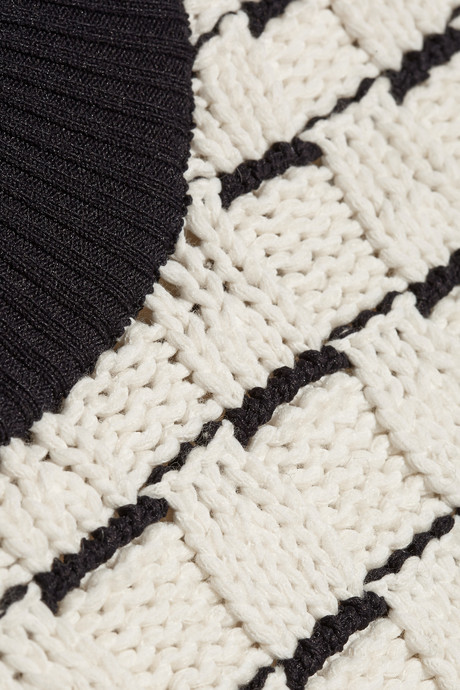 3.1 Phillip Lim Two-tone textured-knit sweater