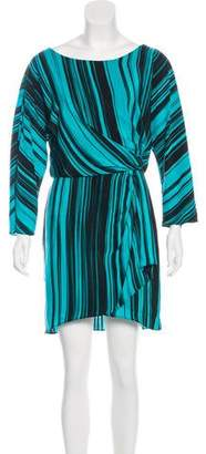 Elizabeth and James Silk Striped Dress