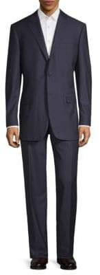 Canali Tonal Striped Wool Suit