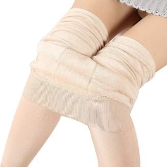 BingHang Winter Thick Warm Fleece Lined Thermal Stretchy Leggings Pants