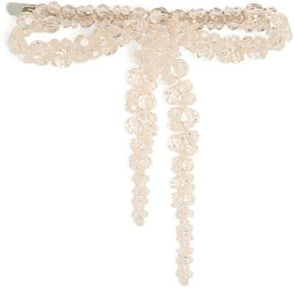 Simone Rocha Bow bead-embellished hair clip