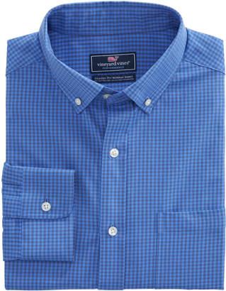 Vineyard Vines Mink Meadow Check Performance Cotton Classic Murray Shirt