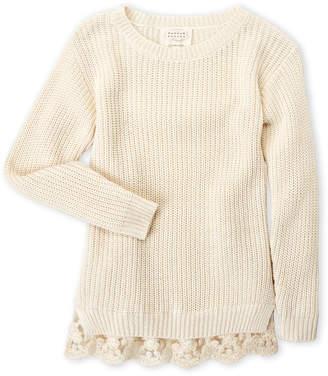 Hannah Banana Girls 7-16) Lace Trim Sweater