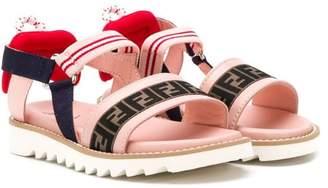 Fendi FF logo strap sandals
