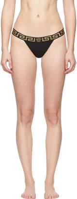 Versace Underwear Black Medusa Thong