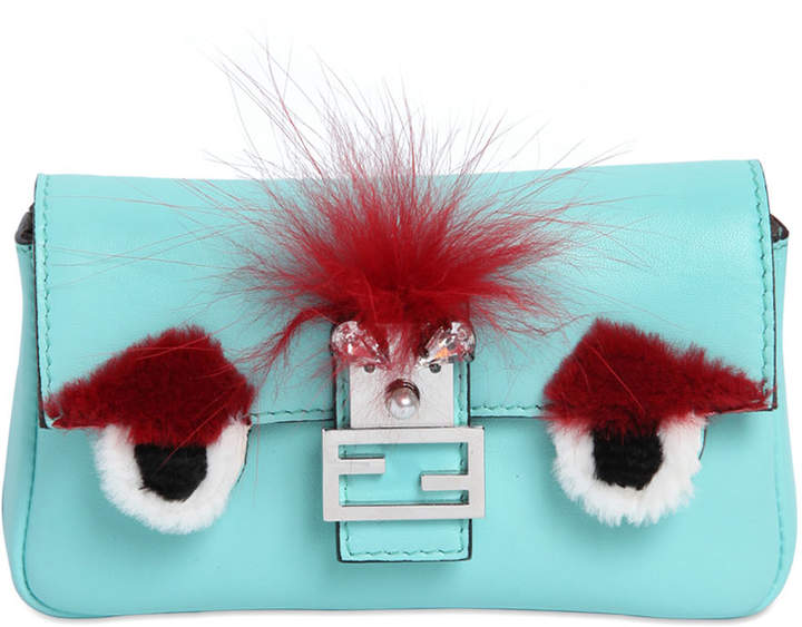 Micro Baguette Monster Leather Bag