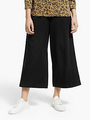 Armedangels Kaylaa Cropped Wide Leg Trousers, Black