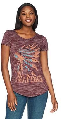 Wrangler Women's Short Sleeve Crew Neck Western Graphic Tee Shirt