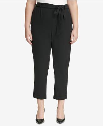 Calvin Klein Plus Size Paperbag Pants