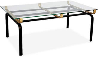 One Kings Lane Juliette Rectangular Coffee Table - Clear/Gold