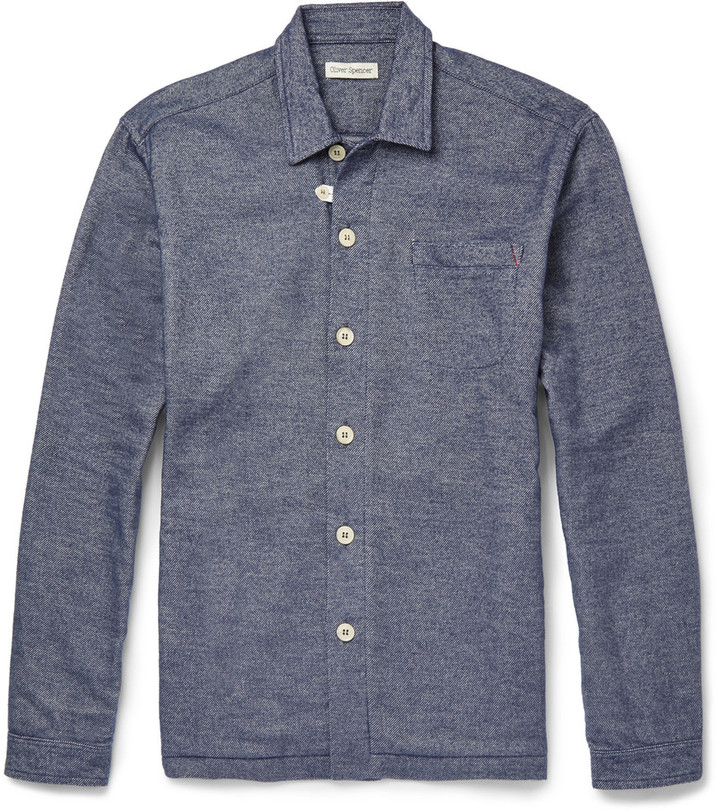 Oliver Spencer Loungewear - Lounge Lux Cotton-Flannel Overshirt