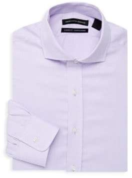 Saks Fifth Avenue Classic-Fit Textured Dress Shirt