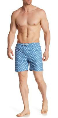 Franks Polka Dot Mid Length Swim Trunks