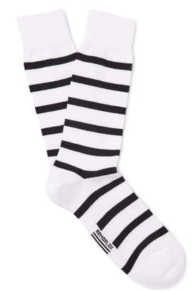 Armor Lux Striped Stretch Cotton-Blend Socks