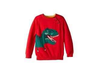Joules Kids Intarsia Dinosaur Sweater (Toddler/Little Kids)
