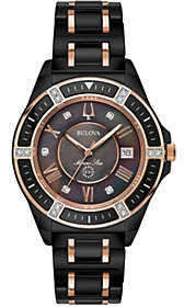 Bulova Women's Black Ceramic Marine Star Diamon d Watch